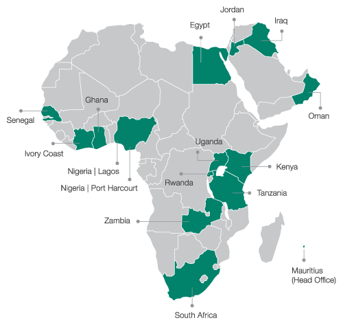 GroFin offices in Africa and Middle East